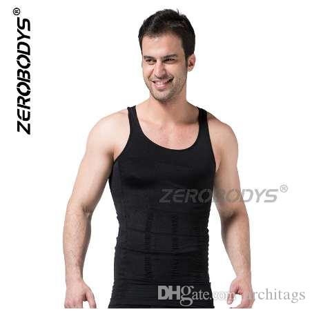 55ef30c7ba Plus Size Zerobodys Mens Slimming Abdomen Vest Hot Body Shaper Girdle Beer  Belly Buster Shapewear Underwear Corset for Men Men Shaper Vest Men Body ...