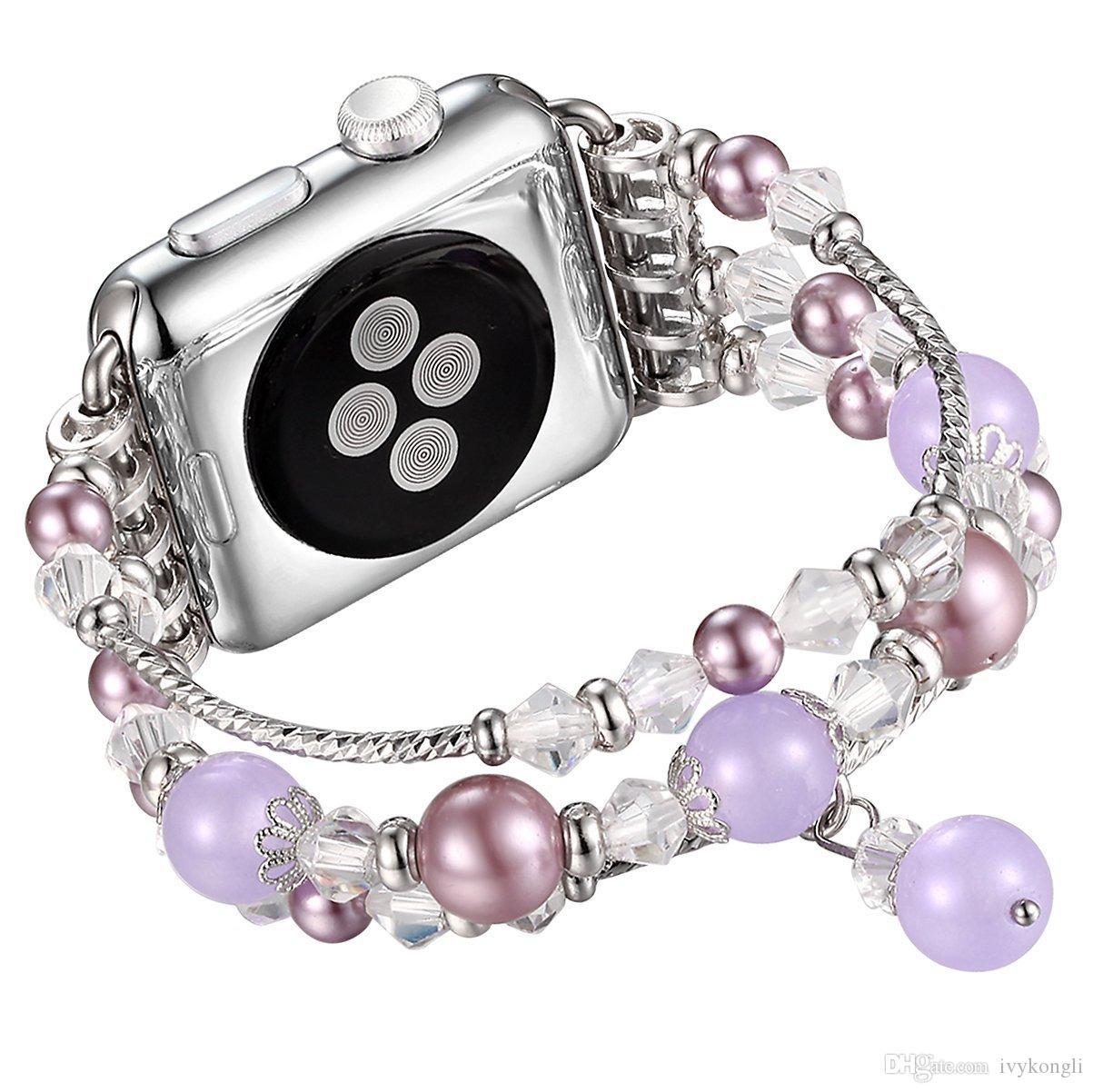 Banda de reloj Apple, correa de banda de pulsera elástica moldeada de reemplazo de reemplazo para 38mm / 42 mm Apple Watch Series 3/2/1