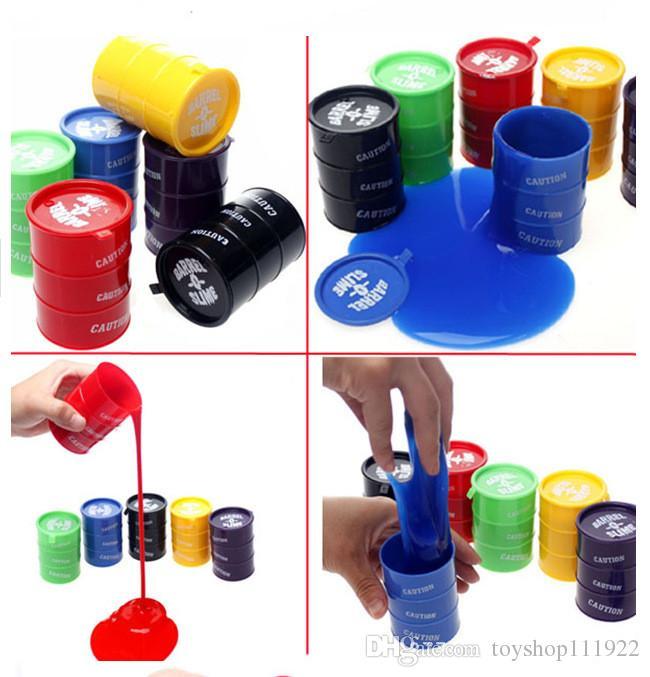 es Juguete de limo pequeño o grande Novedad para niños juguetes para adultos tambores de aceite truco de pintura barril limo Día de los inocentes Halloween mordaza juguetes difíciles