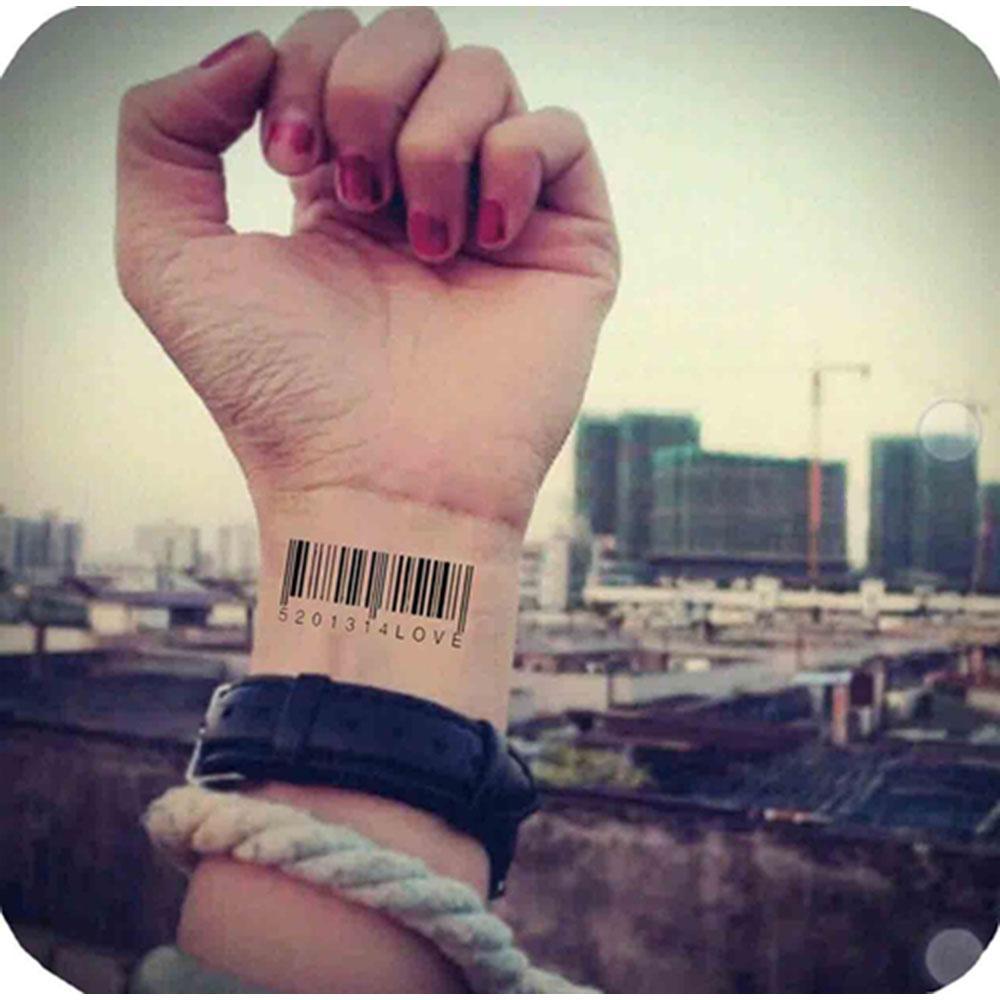 Großhandel Matrix Barcode Temporäre Tattoo Body Art Flash Tattoo