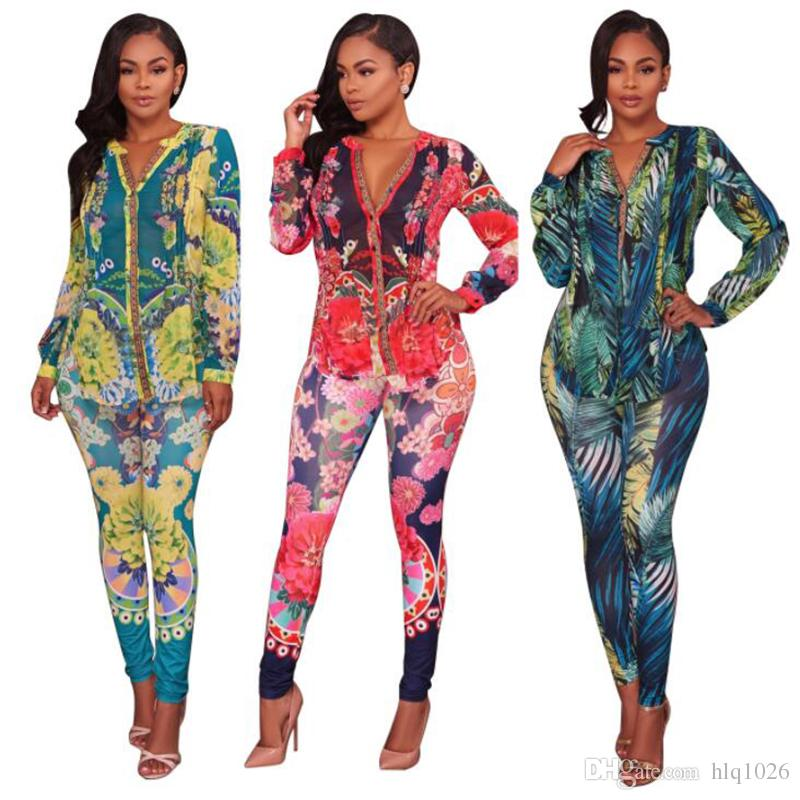 54d7ae306d12 Autumn Winter V-Neck Full Sleeve Women Fashion Jumpsuits Casual Bodycon  Bandage Sexy Rompers Plus Size XXL 3XL Women Jumpsuits Women Bodysuit Sexy  Rompers ...