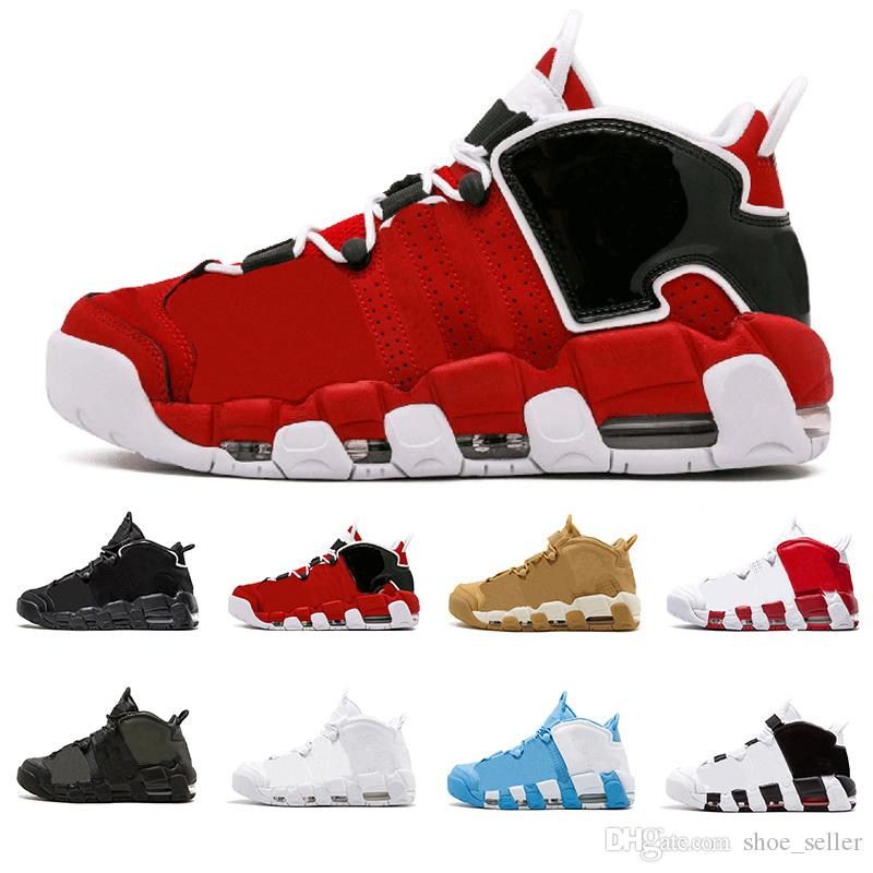 680eaf924a73aa 2018 High Quality Air More Uptempo SUPTEMPO Basketball Shoes OLYMPIC  RELEASE Bulls Gold Varsity Maroon Black Mens Women Scottie Pippen Shoe  Shoes For Sale ...