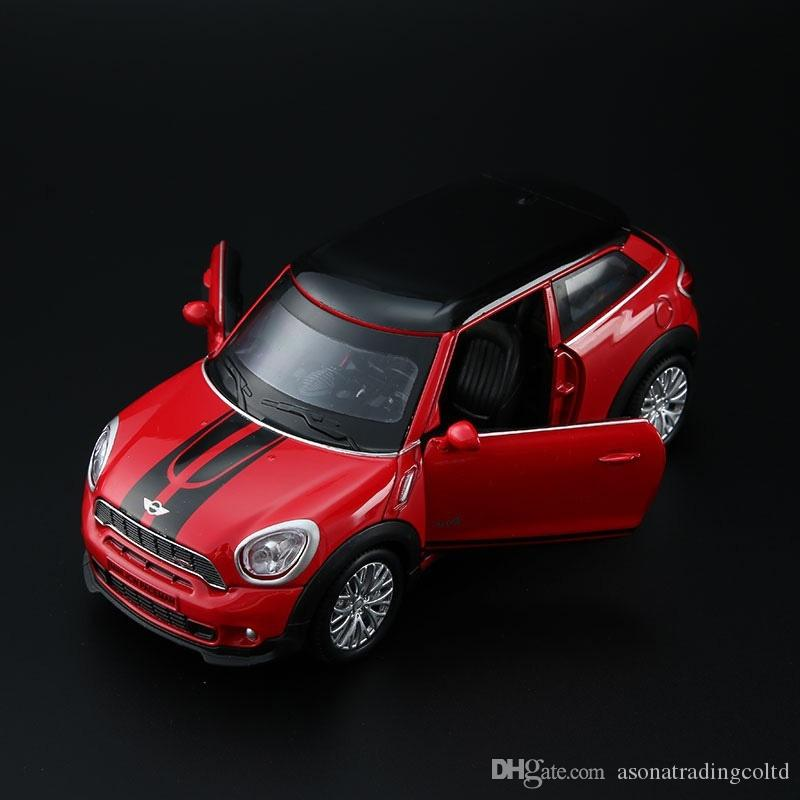 Mini Cooper Car Model Pull Back 1 32 Diecast Alloy Electronic Car