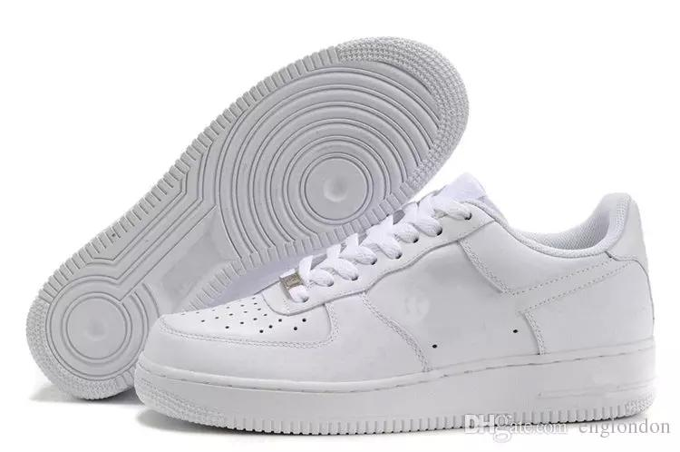 9e81a44327a233 Acheter NIKE Air Force 1 Leather AF1 2019 ONE 1 I Airmax Airmaxs N6  Wholsale Casual Chaussures Designer Sneakers Meilleur Chaussures De Luxe  Top Nouveau ...