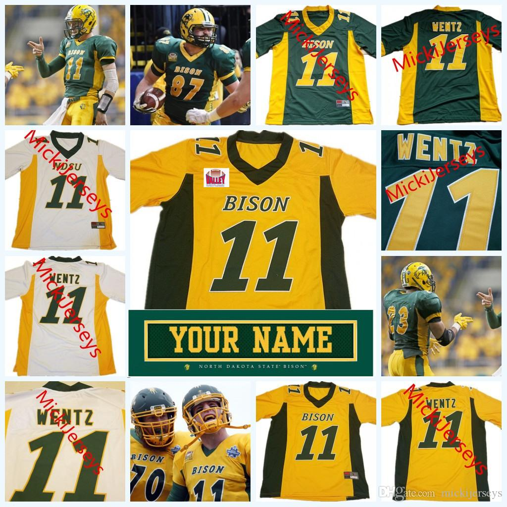 2019 Custom NCAA North Dakota State Bison College Football Jersey Cole  Davis Christian Watson Bruce Anderson Easton Stick NDSU Bison Jersey From  ... b616ad883