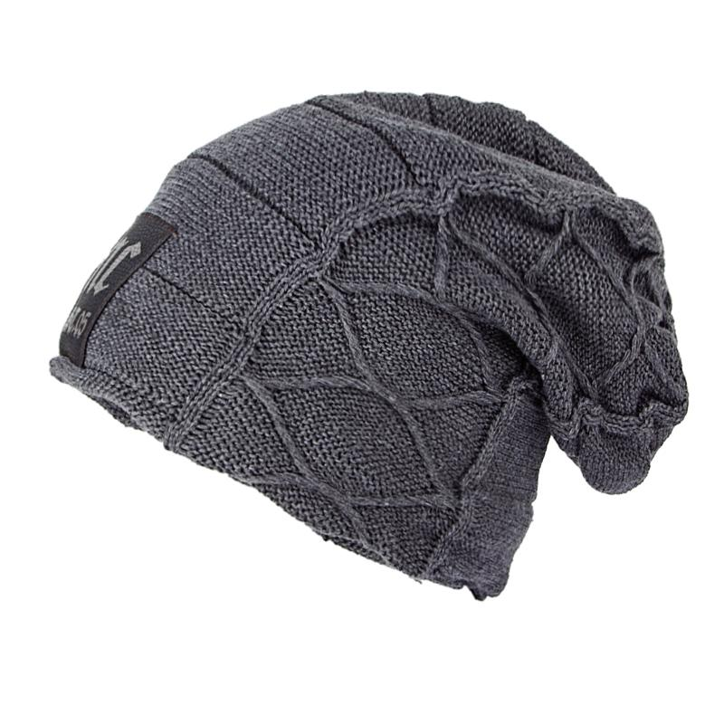 Super Cool Skull Pattern Hats For Men Beanies Knitted Wool Winter