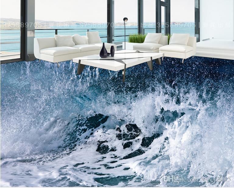 Acquista wallpaper pareti d sea storm waves bagno d piastrelle