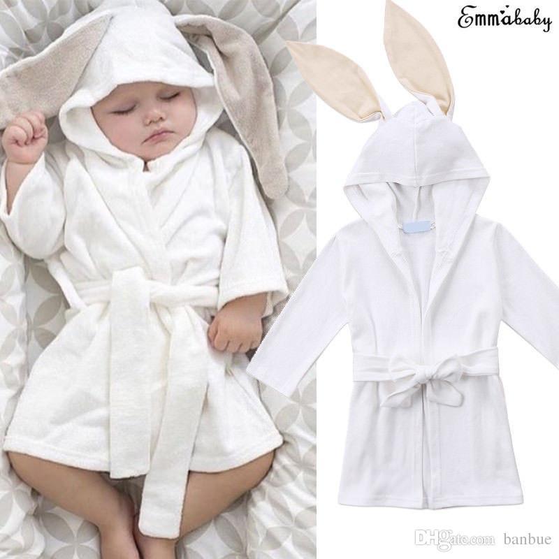 d20adba08873 Lovely Toddler Infant Kid Baby Boys Girls Clothes Hooded Bath Robe ...
