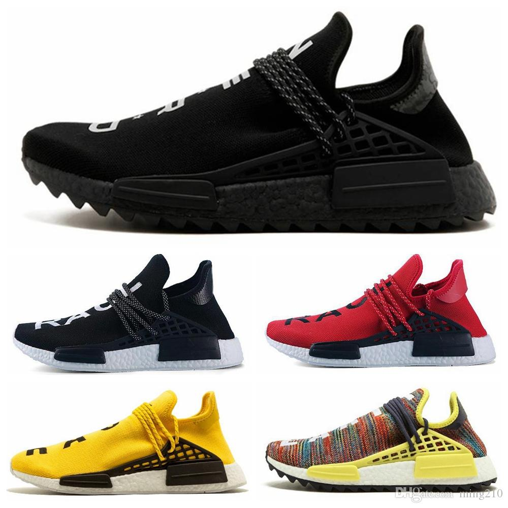 14496ddb6 2019 NMD Human Race TR Men Running Shoes Pharrell Williams Nmds Human Races  Pharell Williams Mens Womens Trainers Sports Sneakers Running Shoes For  Women ...