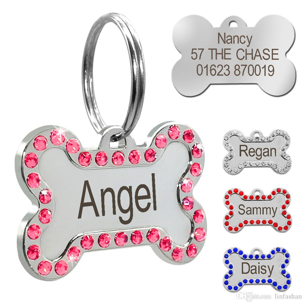wholesale personalized dog tags custom engraved pet id tag stainless