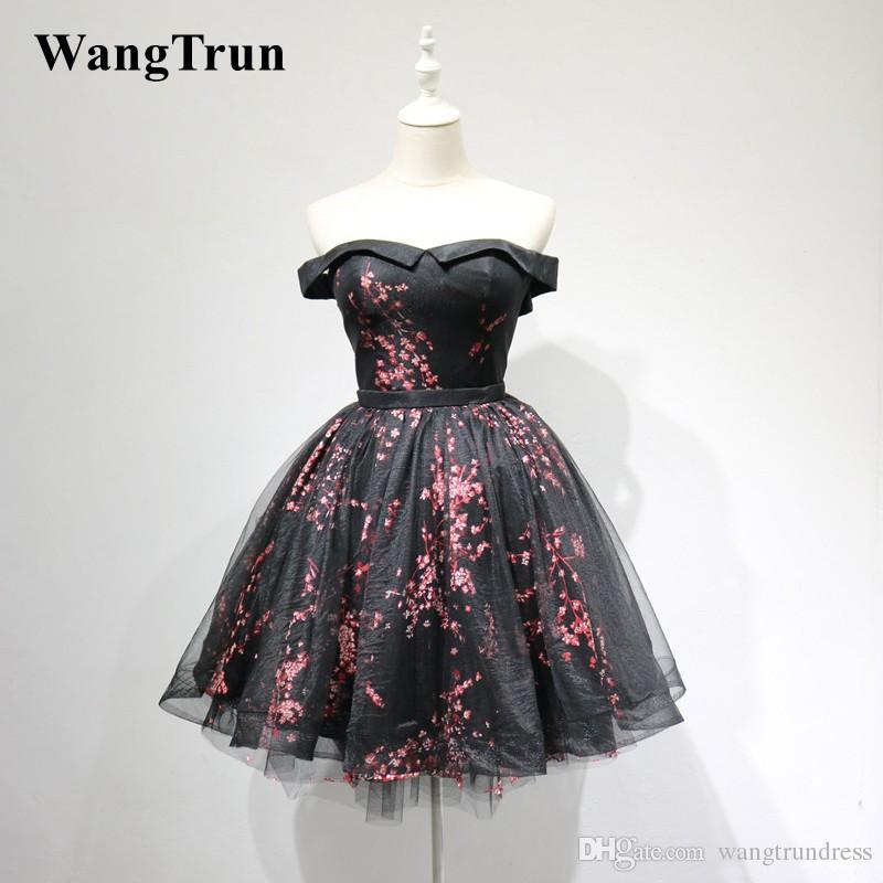 9133a883c7d 2019 New Design Off the Shoulder Prom Dresses Evening Gown Flower ...