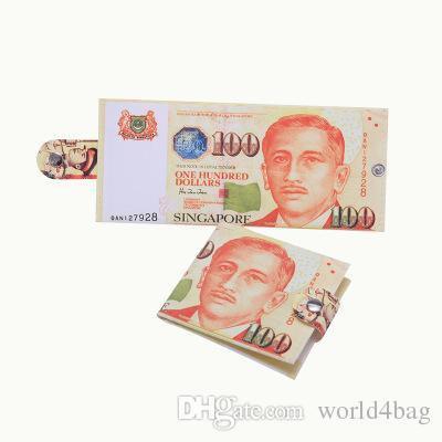 Portafoglio di monete di stampa nazionale varietà moda creativa del fumetto Dollaro RMB Collana di tela sterlina modello serie sterlina breve