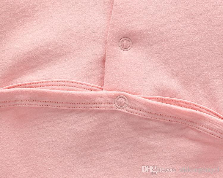Novas Crianças pijamas macacão de bebê recém-nascido roupas de bebê roupas de manga longa roupa interior de algodão meninos meninas outono macacão