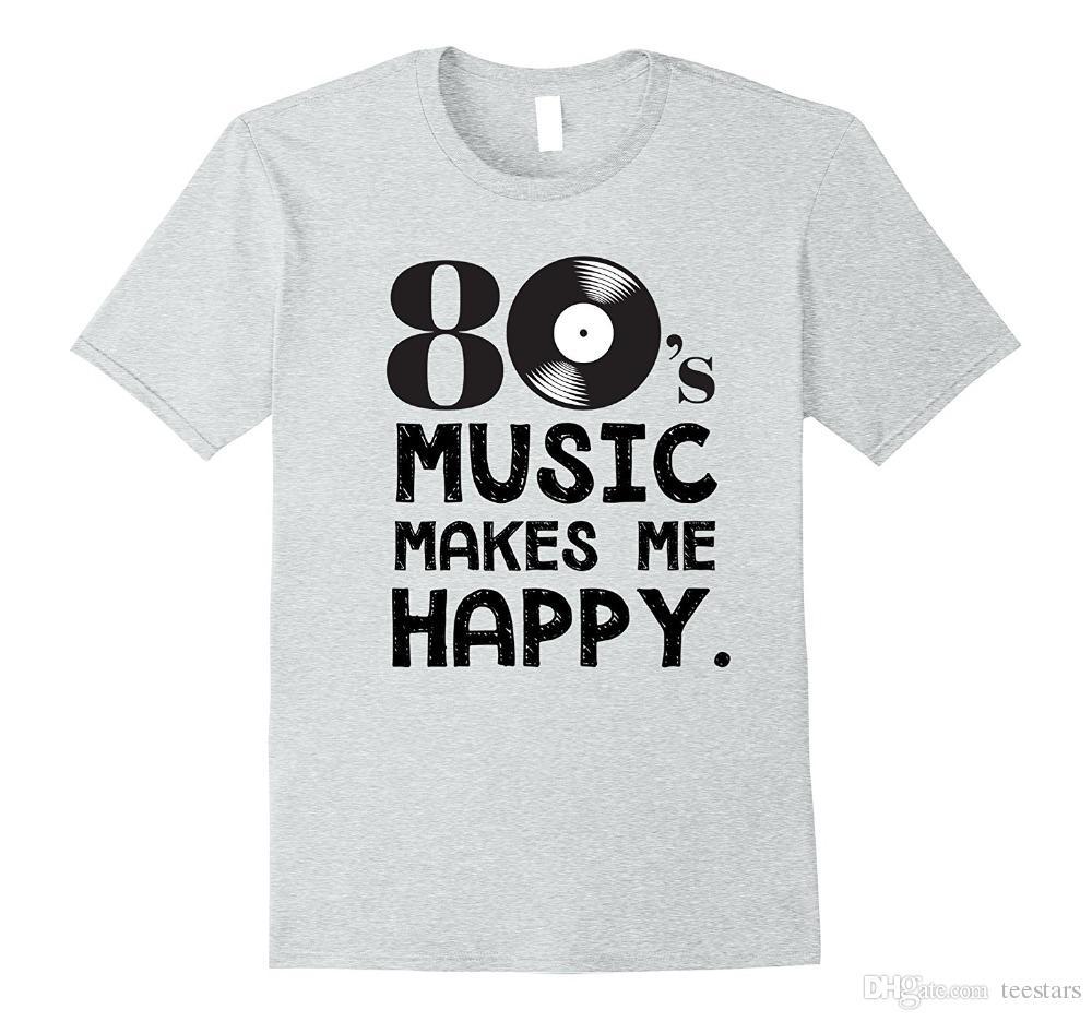 f25ecb6b166 2018 New Summer Men Hot Sale Fashion 80's Music Makes Me Happy 80S  Nostalgia T-Shirt3D T Shirt Men Plus Size Cotton Tops Tee