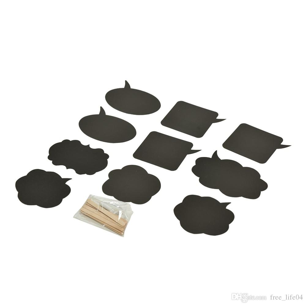 Black Cards Sticks Chalk Glue Mrs Photo Booth Props Love DIY ...