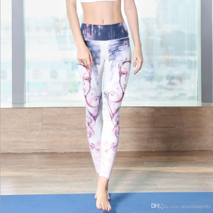 8f1e362a61187 2019 Silanda Sports Beautiful Yoga Pants High Waist Floral Printed Yoga  Leggings Women Sports Leggings Push Hip Running Tights Gym Fitnesswear From  ...