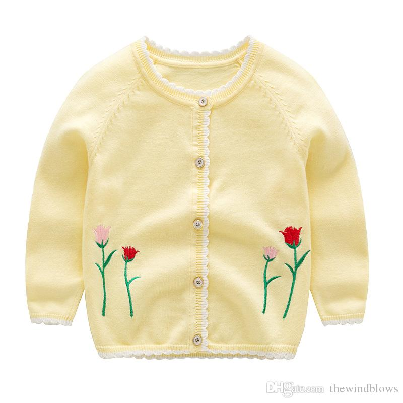ffbe07705 Fall 0 1 Baby Clothes Sweater 2 5 Year Girls Knit Sweater Child ...