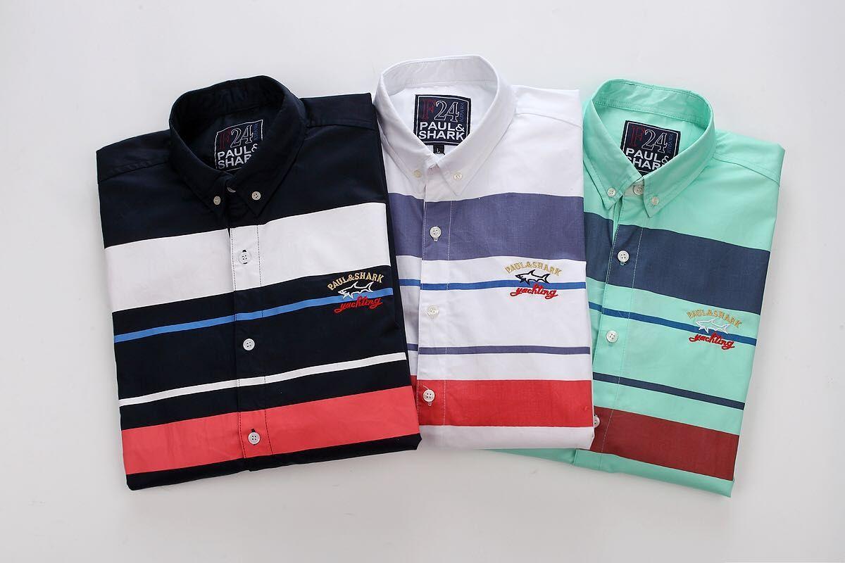 ff1672e61041 2018 Luxury Shark Brand Design Long Sleeve Men s Casual Shirts W0516 ...