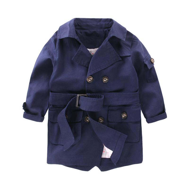 1648e1f9a New Fashion Trench Coats for Boys Long Pattern Casual Boys Belted ...