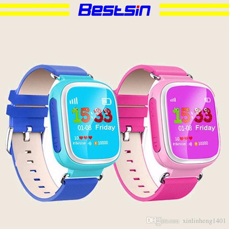 Reloj de pulsera Bestsin Kid GPS Smart Watch SOS Dispositivo de seguimiento de localización de dispositivos para Kid Safe Monitor anti pérdida de regalos para bebés Q80 PK Q50 Q60
