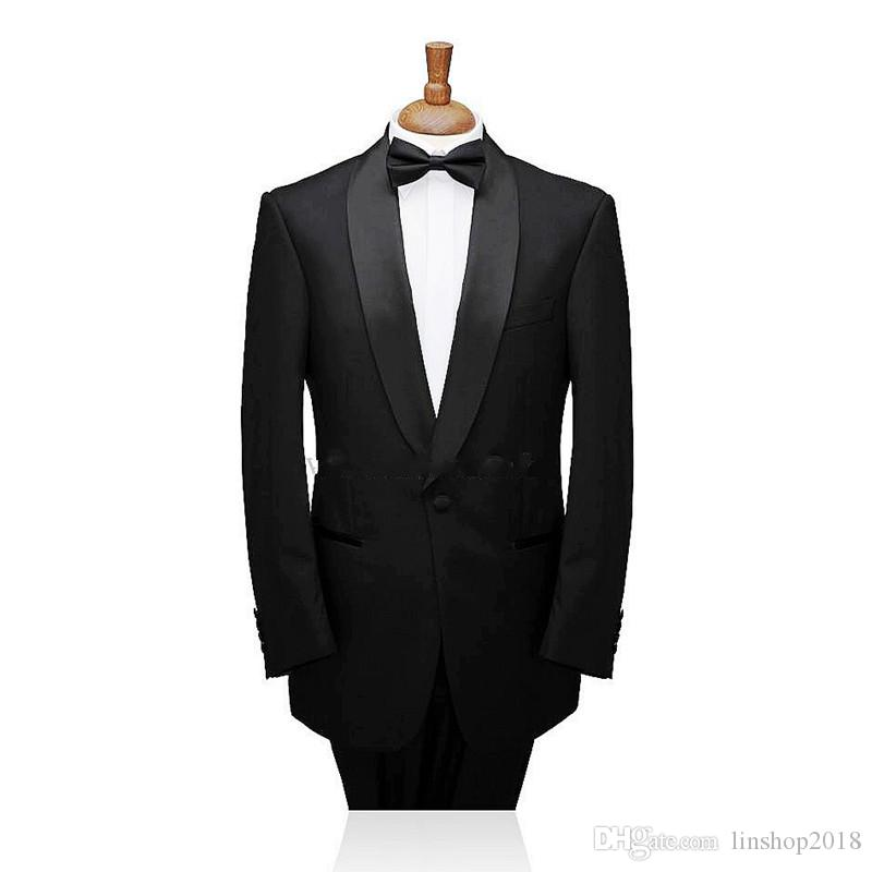 New Arrival Custom Made Single-Breasted Groom Tuxedos Shawl Lapel Best Man Suits Jacket+Pants Formal Mens Suits