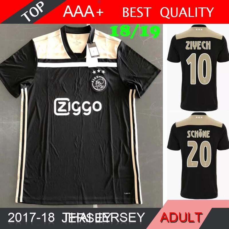db50c0fda 2019 2018 2019 Ajax FC Away Soccer Jersey 18 19 KLAASSEN FISCHEA BAZOER  MILIK NOURI Ajax FC Football Shirt Uniforms 5 From Madride