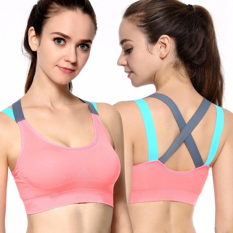 Women Push Up Sports Bra Top For Fitness Yoga Sexy Backless Cross Strap Womens  Gym Running Padded Tank Athletic Vest Underwear Sports Bras Cheap Sports  Bras ... c201d9567