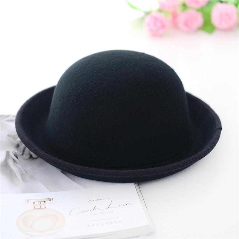 2019 Women Men Chic Vintage Bowler Top Hat Roll Brim Derby Fedora Dome Cap  New Arrival From Peniss 31ae4a666af