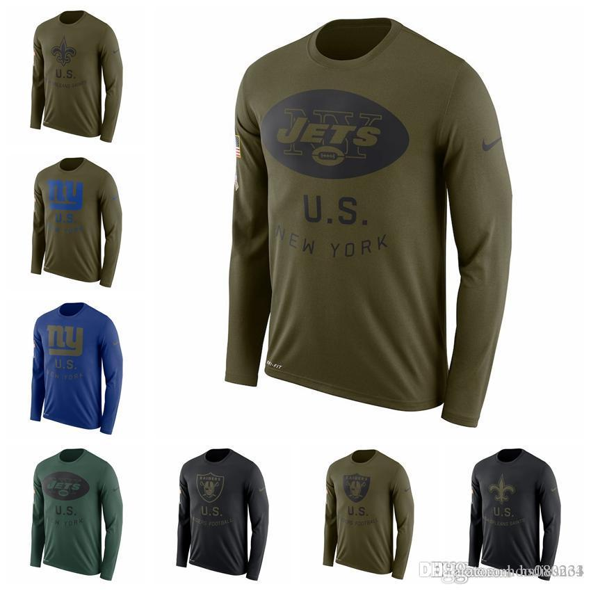 2019 New Orleans Saints New York Giants New York Jets Oakland Raiders  Salute To Service Sideline Legend Performance Long Sleeve T Shirt From  Hoodiesno1 19ce85b53