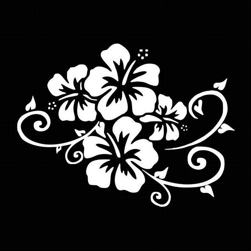 2019 17 212 9cm Flower Bumper Decorative Vinyl Decal Fashion