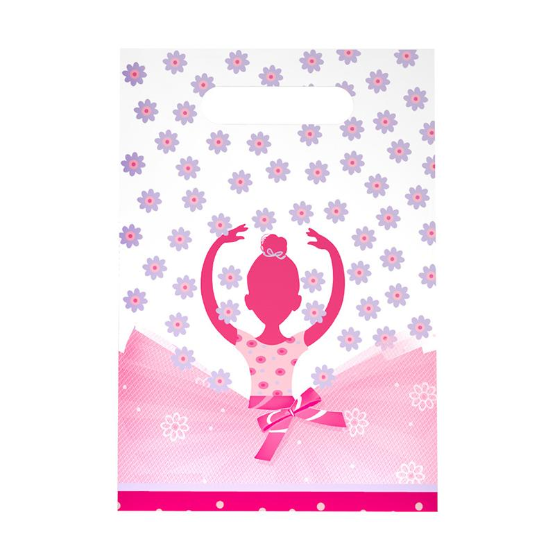new arrived cute ballet girl bags happy birthday party decorations supplies kids loot bag gift bags wrapping paper for christmas wrapping paper for gifts