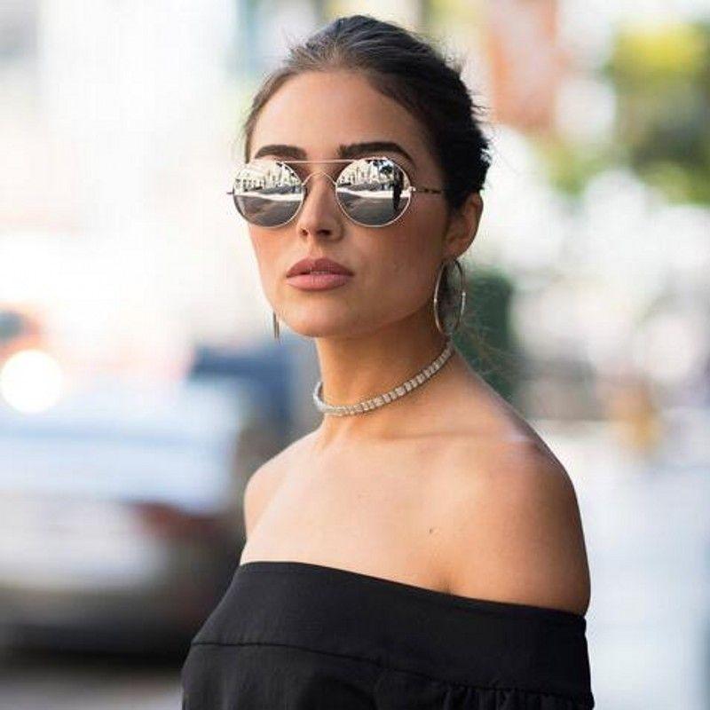 9c20e3b3b7 2018 Retro Sunglasses Women Round Coaing Mirror Lens Sun Glasses For Women  Double Beam Metal Steampunk Oculos Ladies Mirrored Sunglasses Heart  Sunglasses ...