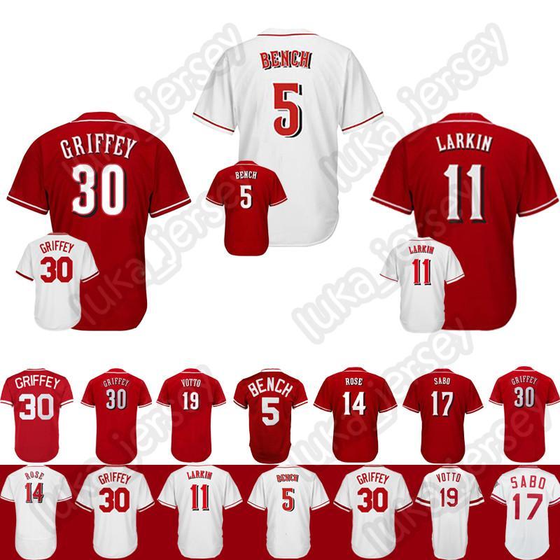 buy online 7a2ec bbb65 wholesale cincinnati reds barry larkin jersey 095f6 c0840