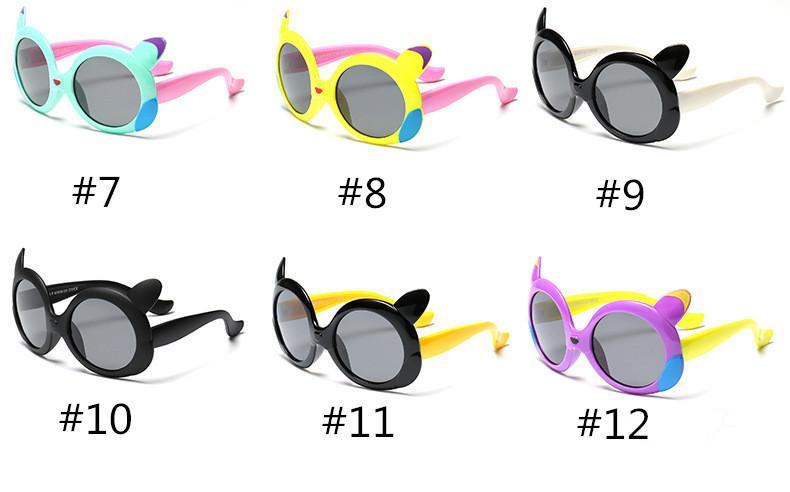 Lovely Hot Sale Kids Cartoon Polarized Goggles Baby Children TR90 Frame Sunglasses UV400 Lovely Boy Girls Cute Cool Eyewear Glasses