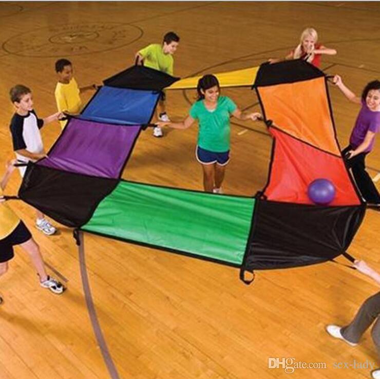 Multi Use Children Games Whac-A-Mole Rainbow Umbrella Educational Outdoor Sports Toys Fun Parachute Ballute Kindergarten Kids