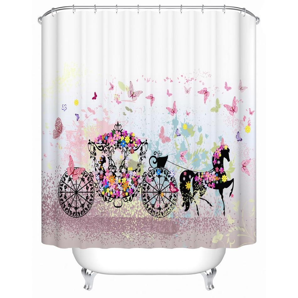 7f9f66ef32d7 2019 High Quality Fabric Polyester Butterfly Shower Curtain Waterproof Bath  Curtain Anti Mold Cool Art Decor For Bathroom From Glenae