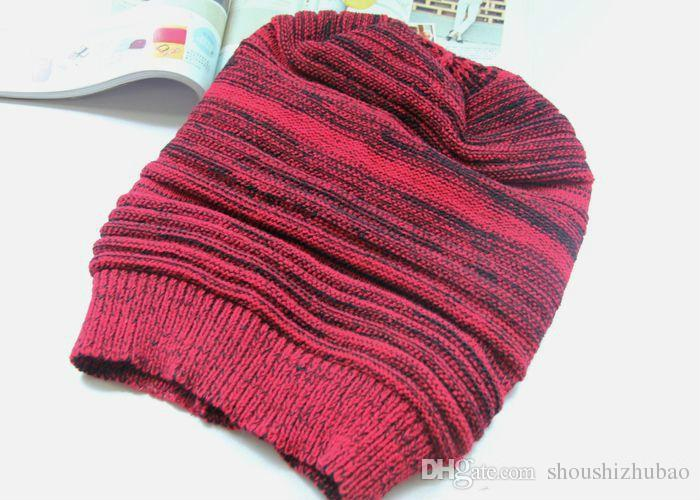 2016 new arrival hats girl Fashion Ladies Unisex Winter Knit Plicate Slouch Cap Hat Knitted Skull Beanies Casual Ski