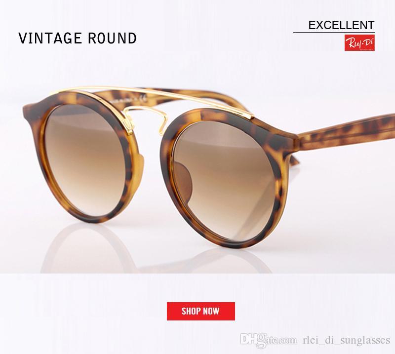 27e03aaaf3d 2018 New Great Quality Glass Lens Sunglasses Round Vintage Steampunk  Glasses Men Women Gold Double Bridge Lentes De Sol Hombre Mirror Gafa Brand  Sunglass ...