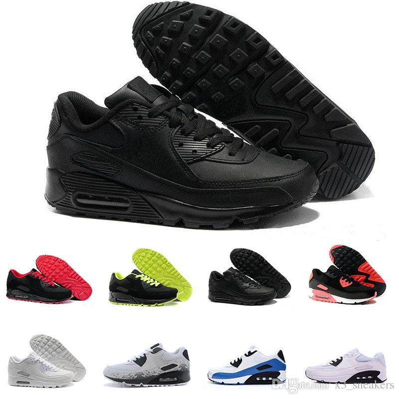 Nike Air Max 90 Brand New Hight Qualität Mens Womens Classic 90 Freizeitschuhe Schwarz Weiß Mens Womens Trainer Turnschuhe Man Walking Alr Sport