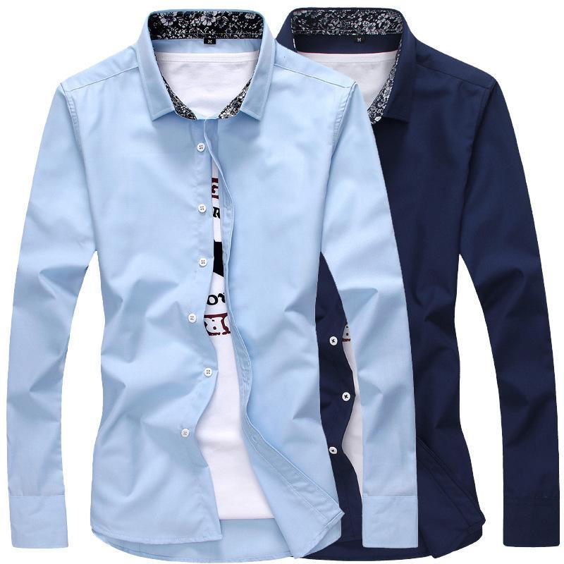 Großhandel Mann Hemd Junge 2018 Herbst Solide Langarm Baumwolle Leinen  Lässige Ärmel Hemd Weiche Komfortable Mode J201 Von Yuanbai,  42.8 Auf  De.Dhgate. ab7fc8e8c4