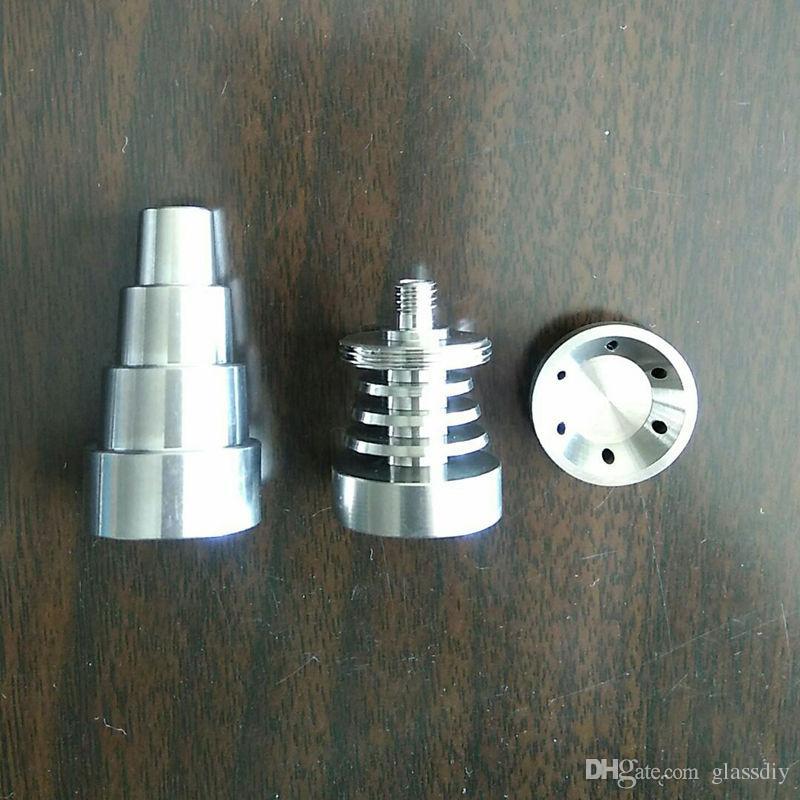 Universal 6 in 1 Domeless Titan GR2 Nägel 10mm 14mm 18mm Joint Male und Female Domeless Nailfor Glasbongs Wasserrohre Dab Rigs