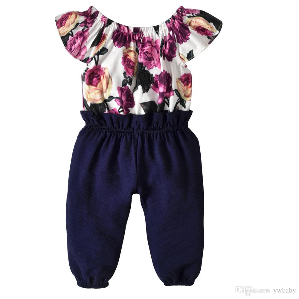 fe5980860f3 2019 Baby Girl Clothes Baby Flower Rompers Kids Clothing Princess Cotton Jumpsuits  Summer Children Clothes From Ywbaby