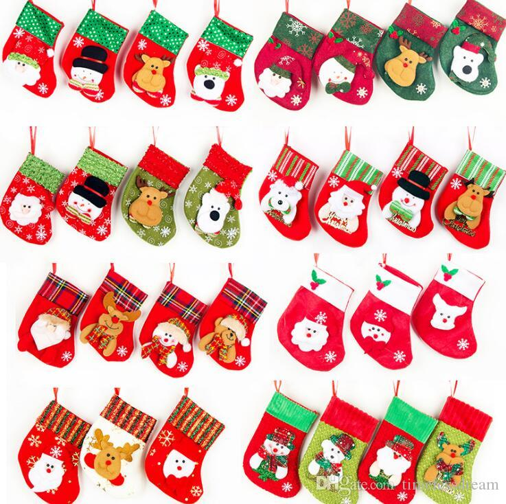 e96e8cf12 Children Christmas Stockings Santa Claus Snowman Elk Design Candy Bag Gift  Bags Cutlery Bag Christmas Tree Hanging Ornament Home Decoration Rooms  Decorated ...