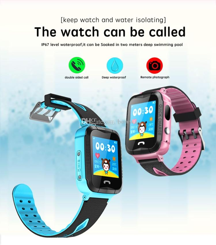 Child Baby GPS Smart Watch V6G with Camera 1.44 Inch Touch Screen SOS Call Device Tracker Anti-Lost Monitor PK Q50 Q90