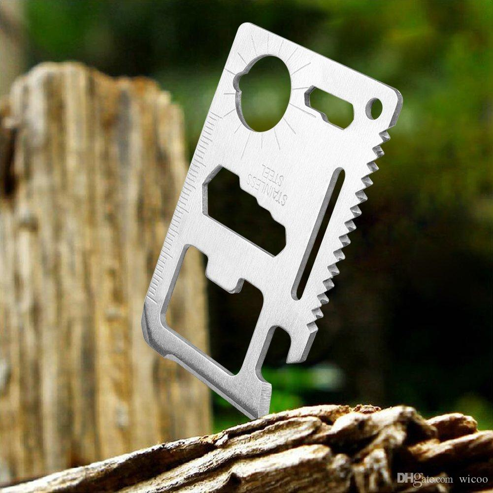 Survival 11 in 1 Survival Camping Pocket Military Credit Card Knife Multi tool Swiss Multifunction Army Knife Wallet Kinfe