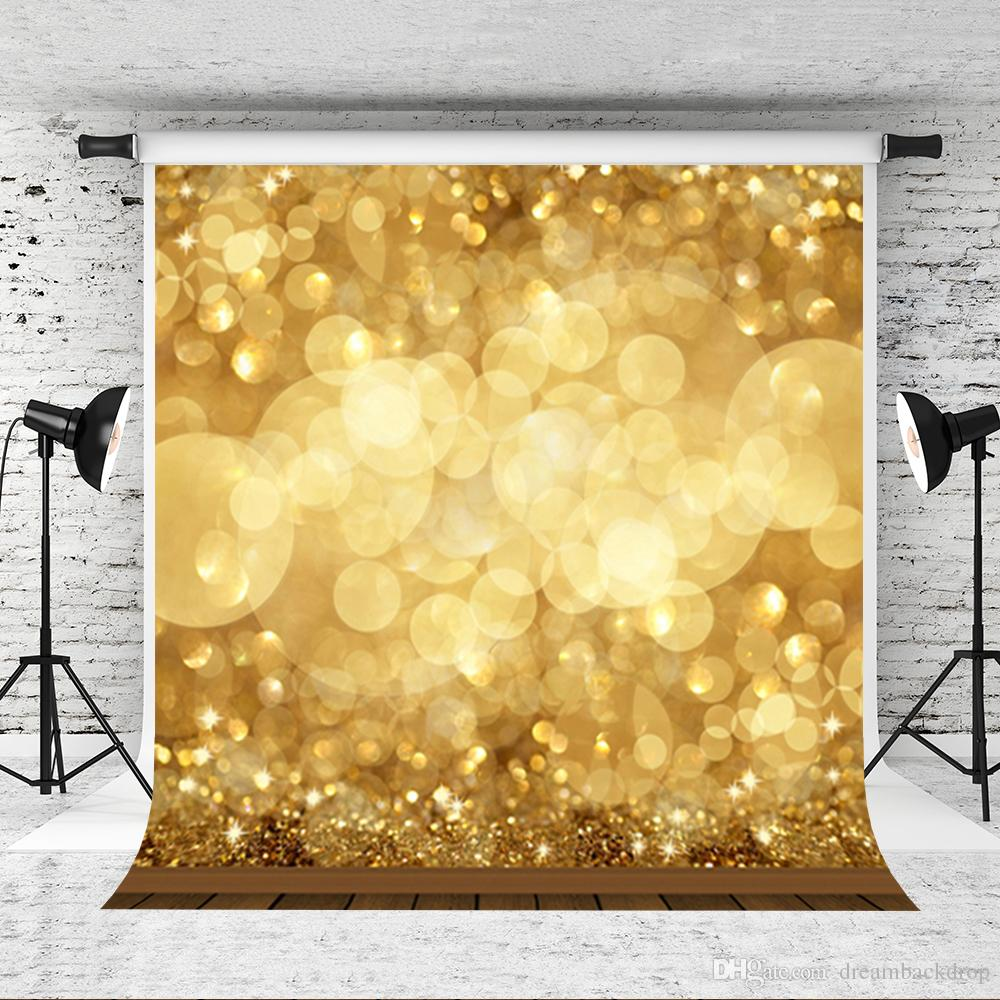 2018 Dream 5x7ft Golden Glitter Photography Backdrop Party ...