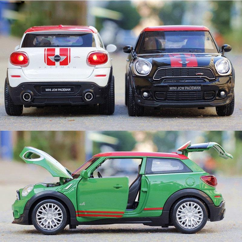 1 28 Mini Cooper Car Model Pull Back Diecast Alloy Electronic Car