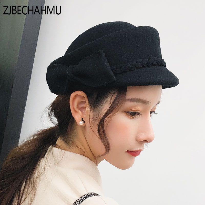 Fashion Vingate Elegant Solid 100%Wool Berets Hats For Women Girl Autumn  Winter Warm Beret Hat Female New Apparel Accessories Berets Cheap Berets  Fashion ... d91eb9dc52ed