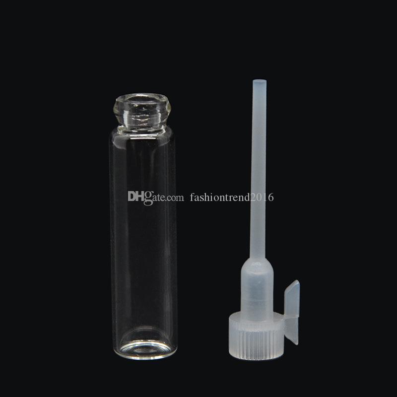 Flacone di prova mini provette di profumo in plastica di piccole dimensioni Flacone da 2 ml Flacone di prova provette di profumo liquido da laboratorio vuoto