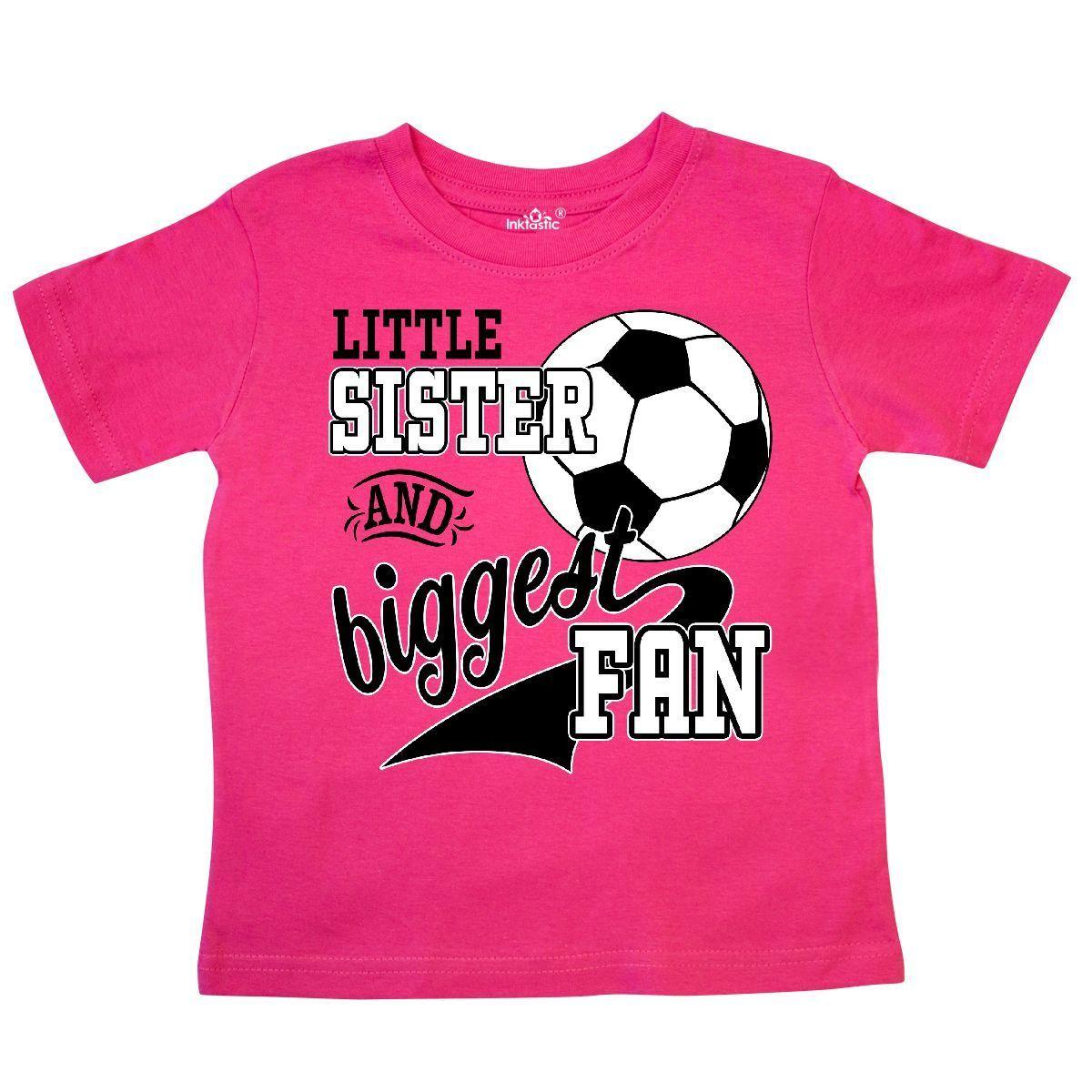 5365df7ab81ee Inktastic Little Sister And Biggest Fan- Soccer Player Toddler T-Shirt  Sports Funny free shipping Unisex Casual tee gift
